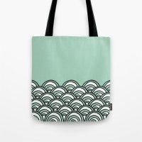 Waves Mint Tote Bag