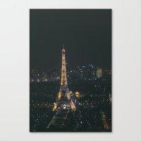 Eiffel Tower Light Show Canvas Print
