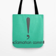 Exclamation Comma Tote Bag