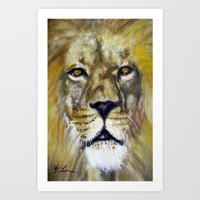 Title: Mesmerizing Lion King Art Print