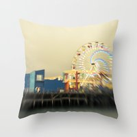 Spiral Away Throw Pillow