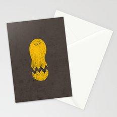 cracked peanut  Stationery Cards