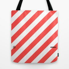 Infrared Lines / White Tote Bag
