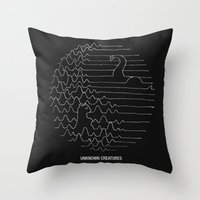 Unknown Creatures Throw Pillow