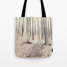 walking through the last days of autumn Tote Bag