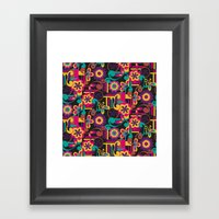 Arabesque Floral Framed Art Print