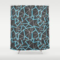 Ab 2 Repeat Blue Shower Curtain