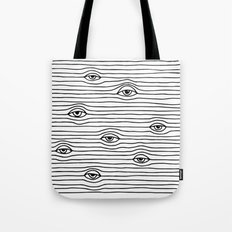PEEPING TOM [BLK & WHT] Tote Bag