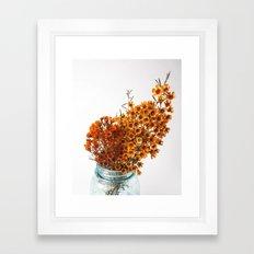Fall Blooms - Orange Framed Art Print