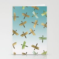Mint Gold Blue Watercolo… Stationery Cards