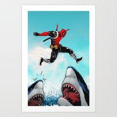 Deadpool Jumps... Art Print