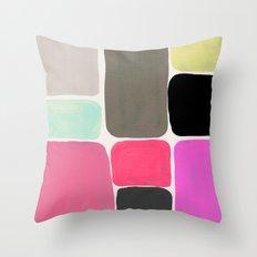 colour + pattern Throw Pillow