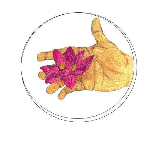 Lotus Palm Art Print