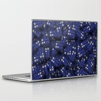 doctor who Laptop & iPad Skins featuring Tardis by 10813 Apparel