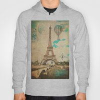 Vintage Eiffel Tower Paris Hoody