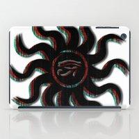 Red Egyptian Sun iPad Case