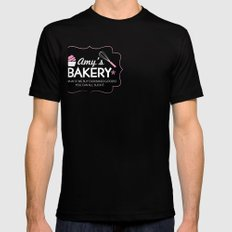 Amy's Bakery SMALL Black Mens Fitted Tee