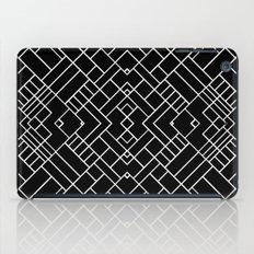 PS Grid 45 Black iPad Case