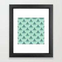 Ocean Fan Tail. Framed Art Print