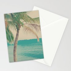 Coco Palm in the Beach  Stationery Cards