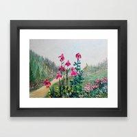 Magenta Plum Bearded Iri… Framed Art Print