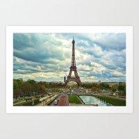 Dramatic Eiffel  Art Print