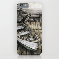 Old Boat On The Dock iPhone 6 Slim Case