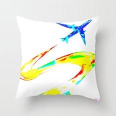 Rainbow Jet Throw Pillow