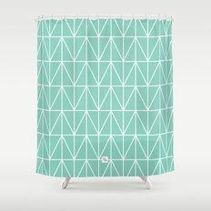 CHEVRON TRIANGLES - MINT Shower Curtain