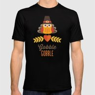 THANKSGIVING OWL IN TURK… Mens Fitted Tee Black SMALL