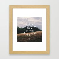 Stand Firm Framed Art Print