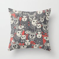 sweater mice coral Throw Pillow