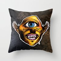 Cycloptic Dog Eagle - Little Wing Throw Pillow