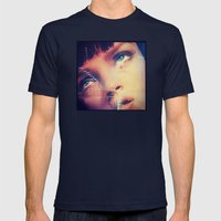 PULP FICTION 4 Mens Fitted Tee Navy SMALL