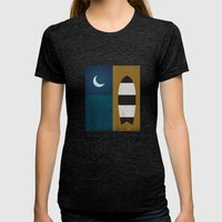 Board & Moon Womens Fitted Tee Tri-Black SMALL