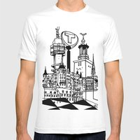 STHLM Silhouettes Mens Fitted Tee White SMALL