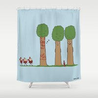 Tree Prank Gone Wrong Shower Curtain
