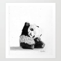 The Friendly Panda  Art Print