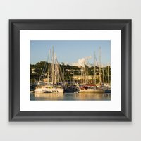 Sailboats Of St. George'… Framed Art Print