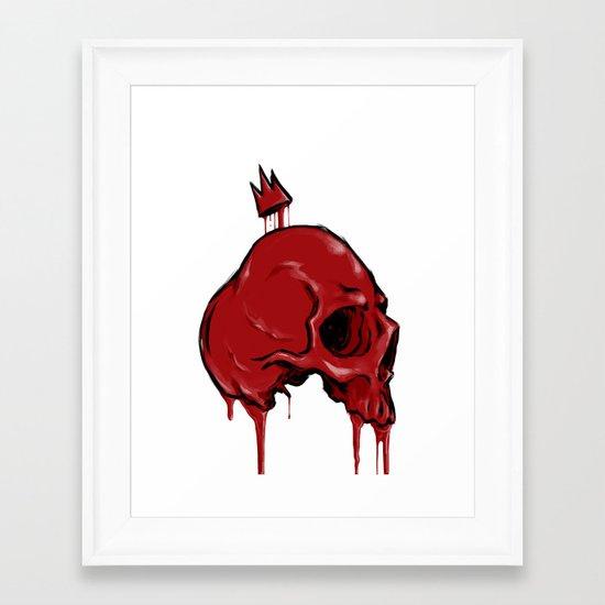 Blood Crown Framed Art Print