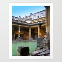 Approaching the Baths Art Print