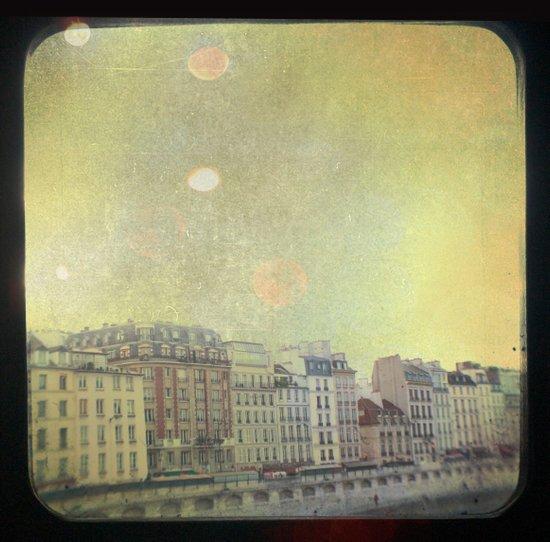 Paris Row Art Print