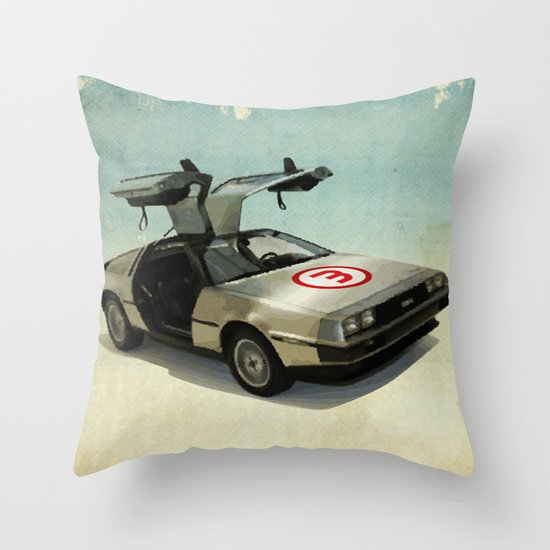 Number 3 - DeLorean Throw Pillow