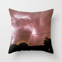 Electric Madness Throw Pillow