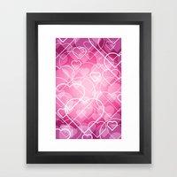 Hard line Heart Bokeh Framed Art Print