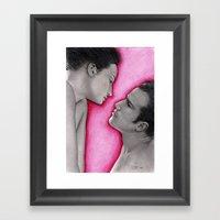 KISS´N´TELL Framed Art Print