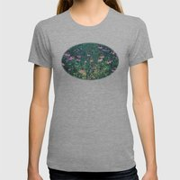 Flowers of the Field Womens Fitted Tee Athletic Grey SMALL