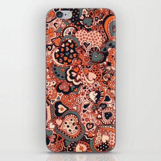 Doodle hearts iPhone & iPod Skin