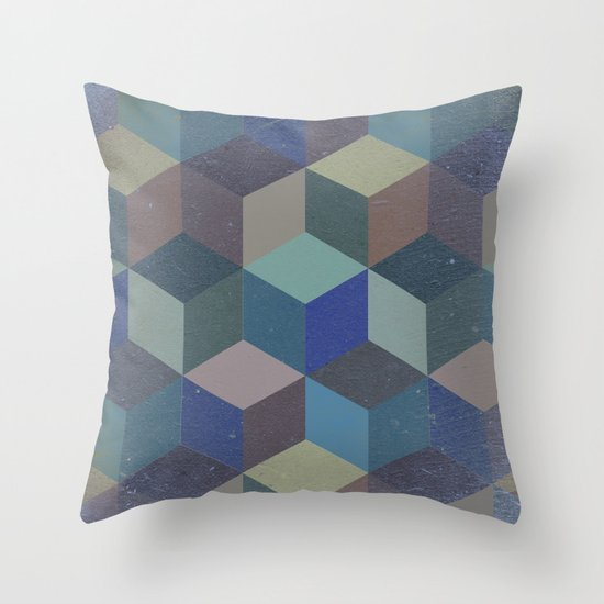 Dimension in blue Throw Pillow
