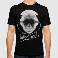 Sounds Mens Fitted Tee Black SMALL